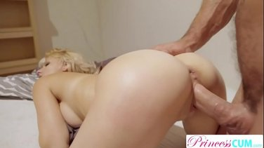 Bartender rigidly fucks his busty boss after work