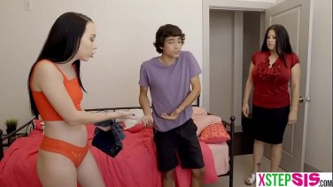 Beautiful young girl with big natural tits and her boyfriend