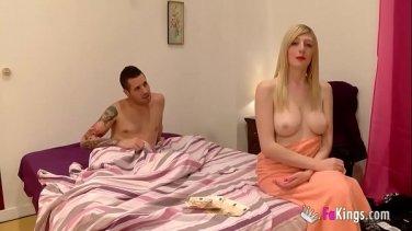 Sweet blonde wants the pleasure of adult men