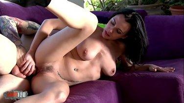 Hot European beauty Natasha gets fucked by two cocks