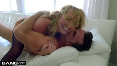 Lustful bitch deep throat and swallow
